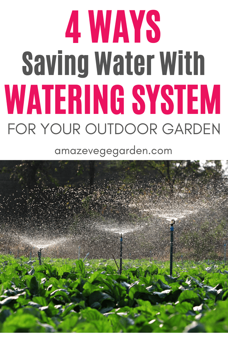 Saving water with watering system