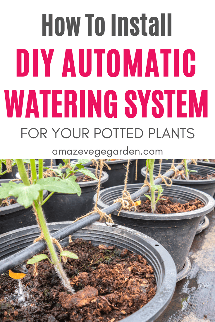 how to install diy automation watering system for potted plants