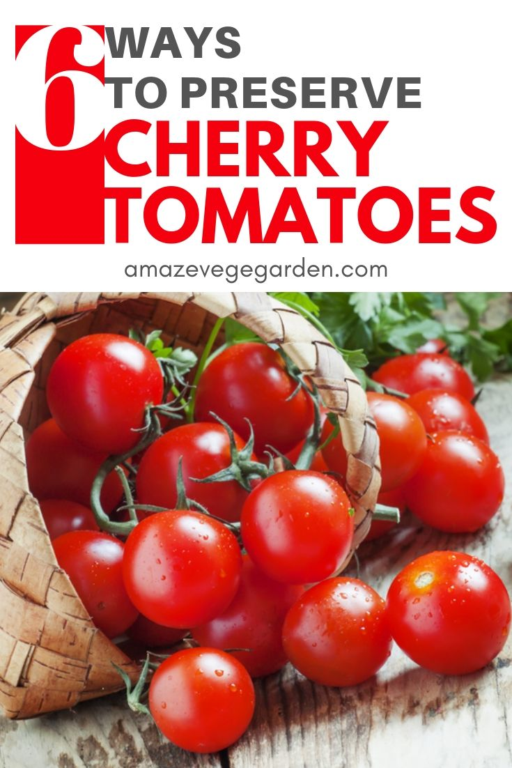 6 ways to preserve cherry tomatoes