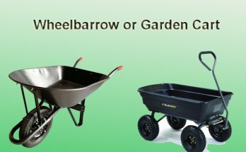 wheelbarrow or garden cart