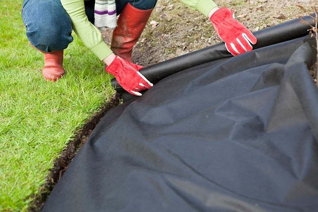 Cover Your Lawn with a Weed Suppressant Cloth